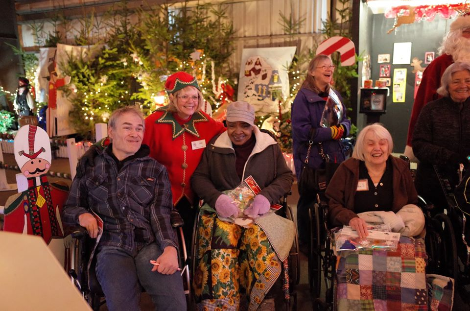 Grace Center participants on an outing to Storybook Land during the holidays