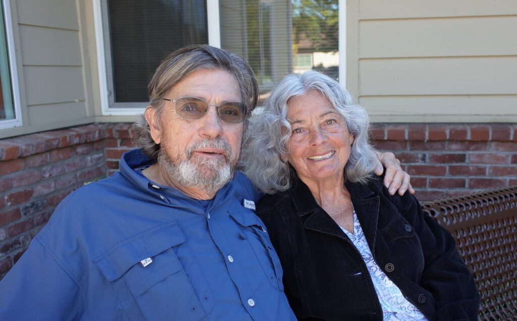 A Grace Center participant and their family caregiver